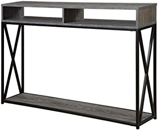 Convenience Concepts Tucson Deluxe 2-Tier Console Table, Weathered Gray