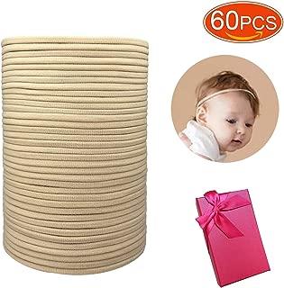 Elesa Miracle Baby Girls 60Bulk Wholesale DIY High Stretchy Soft Nylon Headbands