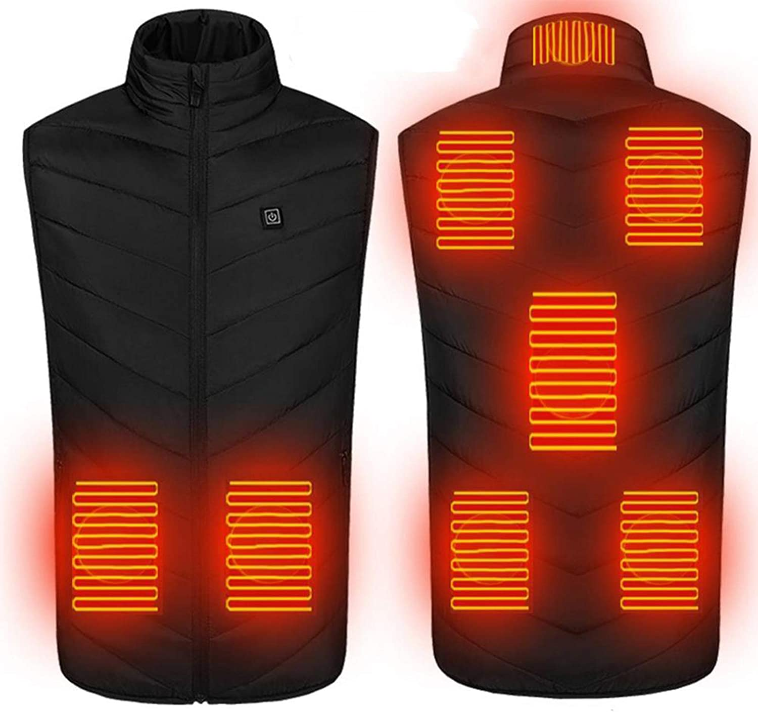 Electric Heated Vest Winter Thermal USB Heating Vest Heated Jacket Lightweight Electric Gilet Vest for Outdoor Working Skiing Hiking Unisex,Blue,S