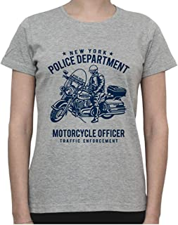 New York Police Department. NYPD Motorcycle Officer Womens T-Shirt