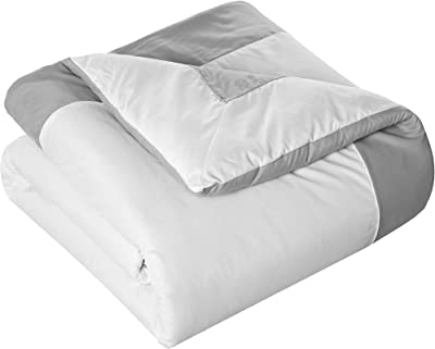 Chic Home Hotel Collection con sábanas, Tradicional, Gris, Twin Comforter, 1, 7