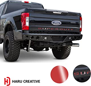 Haru Creative - Rear Tailgate Trunk Letter Insert Overlay Vinyl Decal Compatible with and Fits Ford Super Duty F250 F350 F450 2017 2018 2019 - Gloss Red