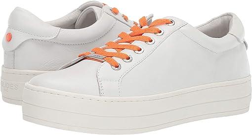 White Leather/Orange Lace