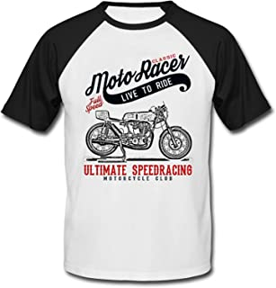 TEESANDENGINES Ducati 250 Sprint Classic Moto Racer Ultimate Speed Racing - Camiseta de manga corta para hombre, color negro