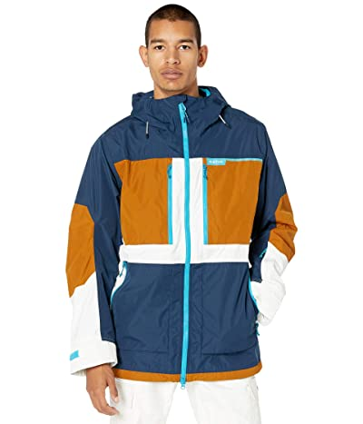 Burton Frostner Jacket (Dress Blue/True Penny/Stout White) Men