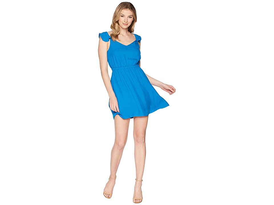 Jack by BB Dakota Annalise Flutter Sleeve Open Back Dress (Azure Blue) Women