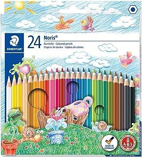 STAEDTLER Noris Club 144 NC24 kleurpotloden, verhoogde breukvastheid, zeskant, set met 24 schitterende kleuren, kindvriend...