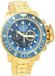 ساعة انفيكتا 22134 للرجال سي هنتر كرونو ستانلس ستيل ذهبي اصفر
