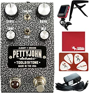 PettyJohn Electronics Iron Overdrive Guitar Effects Pedal with Polish Cloth, Pick Card, Tuner, Capo, 9V Power Supply