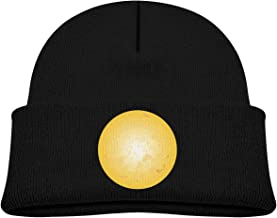 ABY14-YJ Baby Boy's Girl's Knit Beanie Hat Halloween Moon Cuffed Cotton Soft Funny Skull Cap Black