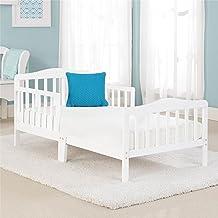 Big Oshi Contemporary Design Toddler & Kids Bed - Sturdy Wooden Frame for Extra Safety - Modern Slat Design - Great for Bo...