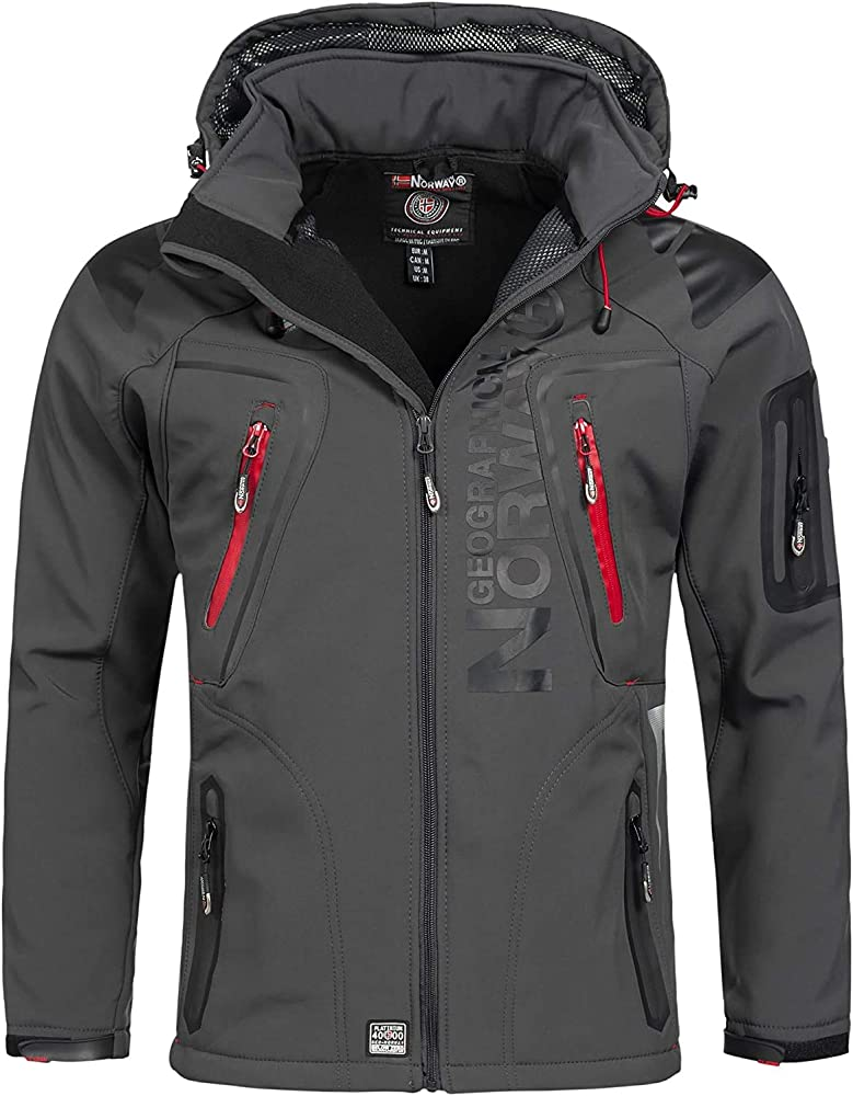 Geographical norway, giacca, giubbotto per uomo,96% poliestere, 4% elastane; fodera: 100% poliestere WQ529H/GN