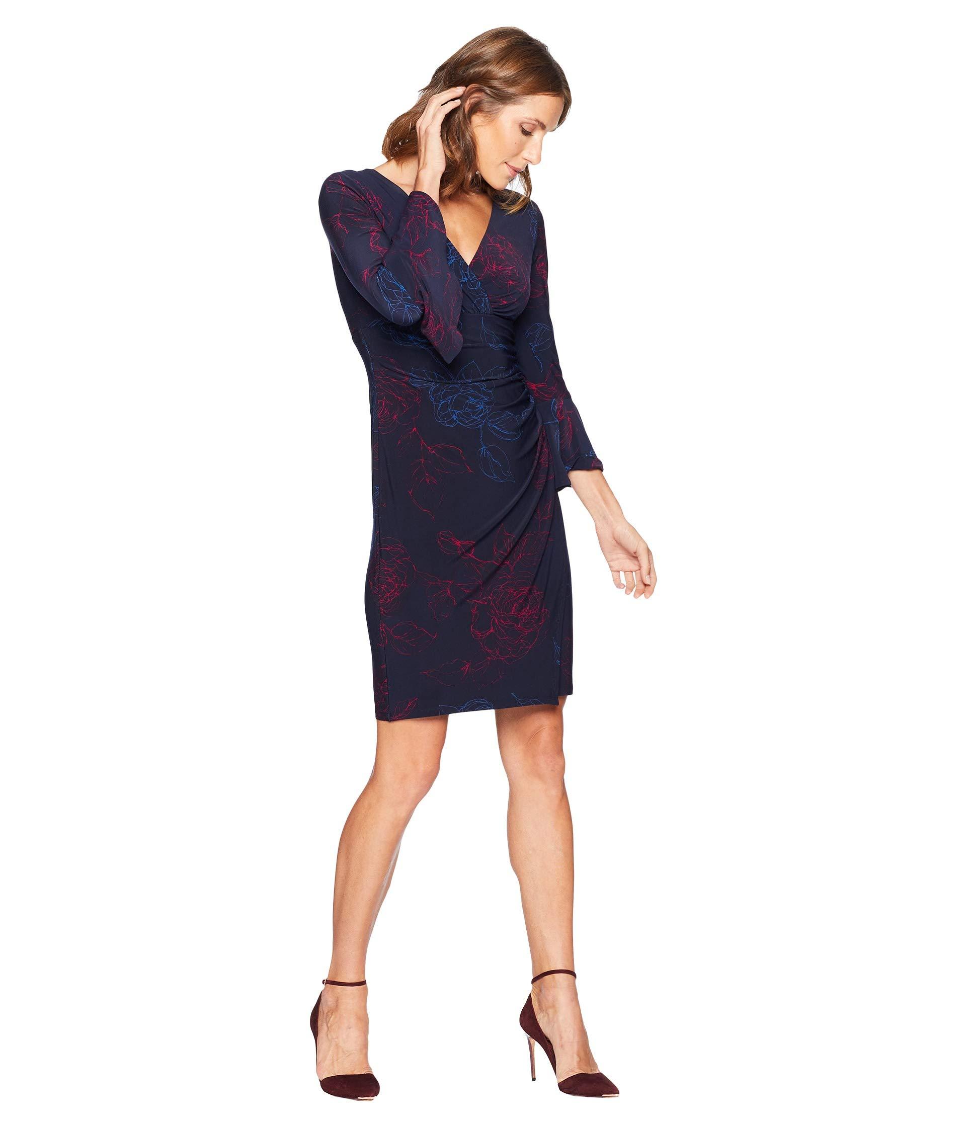 Elsietta porter berry Matte Joyous Navy Blue Day Dress Lighthouse 4 Lauren Ralph Jersey 3 Floral Sleeve wXBTOUqx6