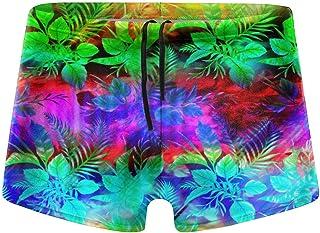 FunSpt Men's Beach Board Shorts Pattern Sexy Low Waist Swimwear Swimsuits Swim Surfing Boxer Trunks