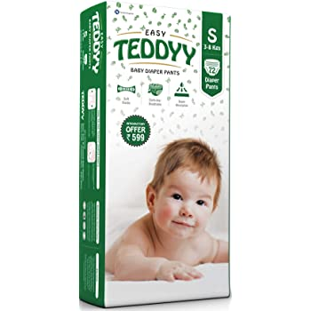 TEDDYY Baby Easy Diapers Pants Small 72 Counts