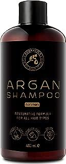 Champú de aceite de argán para hombres 480ml - Champú con aceite de argán natural y extractos de hierbas - para todo tipo de cabello - Fórmula reparadora especial para hombres - Cuidado del cabello
