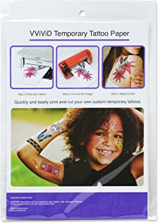 VViViD Easy-to-Apply Printable Inkjet Rub-On Temporary Tattoo Paper 2-Sheet Pack (1 Pack (2 sheets))