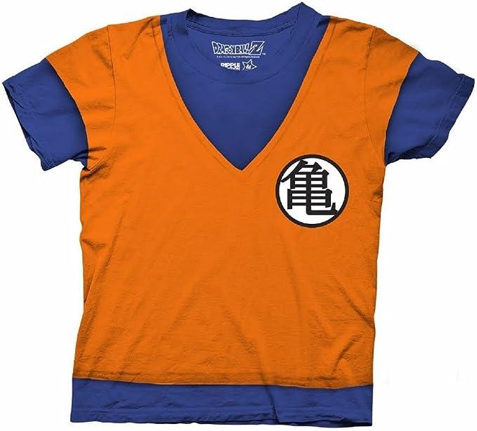 Dragonball Z Camiseta para hombre Son Goku combate con disfraz S