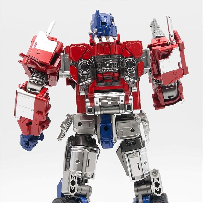 Vervorming speelgoed, Op commandant transformatie met lichte filmmodel legering vervorming actie figuur robot speelgoed kinderen geschenken (Color : B) B