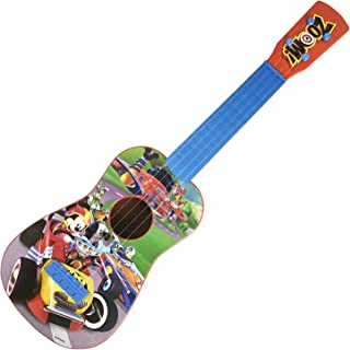 Disney Mickey Mouse Clubhouse Music Play Guitar | 4 Real Guitar String | 24 Inches long - Ukulele Size | Kids Toy Gift