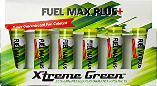 Xtreme Green Fuel Max Plus+ One Shot Does It All! Boosts Power and Performance - Helps Improve Fuel Economy for Gas and Diesel (Pack of 6 x 20ml bottle)
