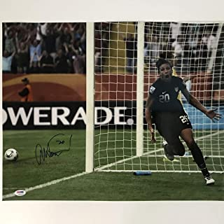 Autographed/Signed Abby Wambach Team USA World Cup USWNT 16x20 Soccer Photo PSA/DNA COA Holo Only