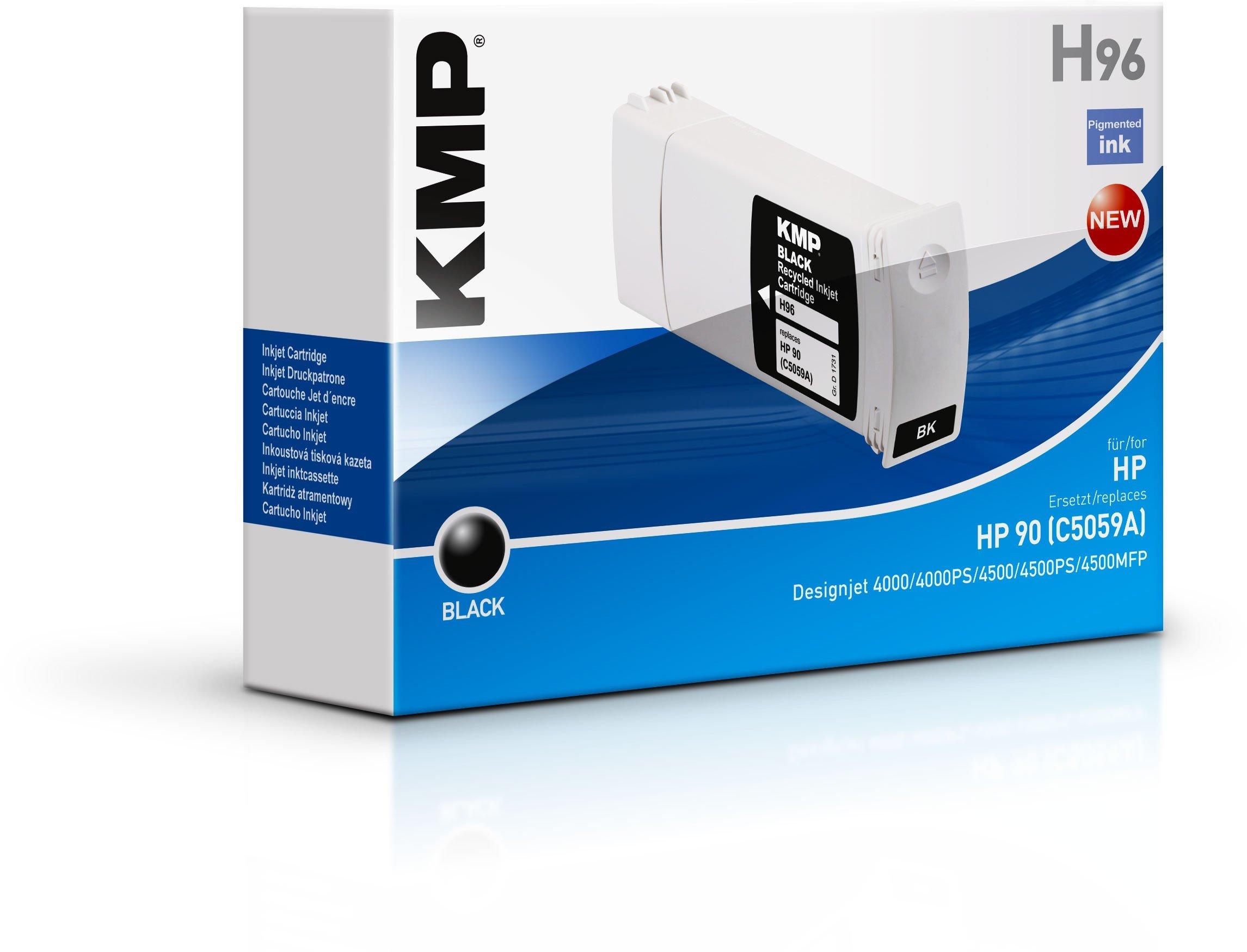 KMP 1731,4001 cartucho de tinta Negro 1 pieza(s) - Cartucho de tinta para impresoras (Tinta a base de pigmentos, Negro, HP DesignJet 4000 PS HP DesignJet 4000 Series HP DesignJet 4020 42