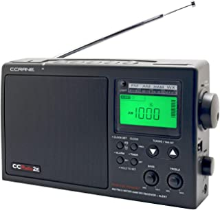 C. Crane CCRadio-2E Enhanced Portable AM FM Weather and 2-Meter Ham Band (Black) CC2BE