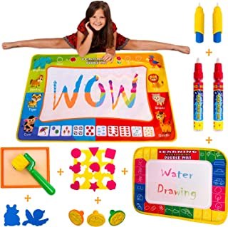 Wow Four Design Updated 2019 Version AquaDoodle Mat - Aqua Magic Mat - Water mat - Educational Travel Toys Gifts for Age 2 3 4 5 6 Year Old