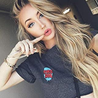 ENTRANCED STYLES Long Wavy Blonde Ombre Lace Front Wigs for Women Synthetic Dark Brown Roots Wig for Daily & Party Use Mixed Color Natural Looking 30 inch