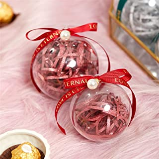 Gift Box 20pcs Creative Acrylic Plastic Ball Gift Box with Handles Wedding Preferred Candy Bag Baby Shower Packaging Choco...