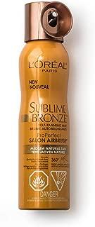 L'Oreal SUBLIME BRONZE Self-Tannning Mist, Medium Natural Tan 4.60 oz