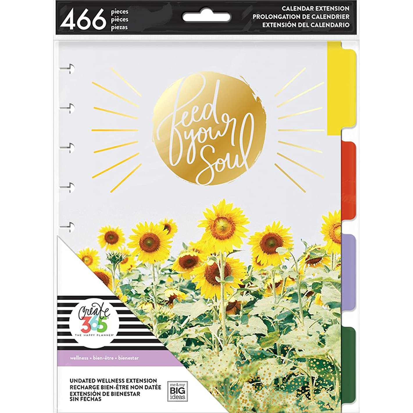 me & my BIG ideas MONT-13 The Happy Wellness Extension Planner, Multi