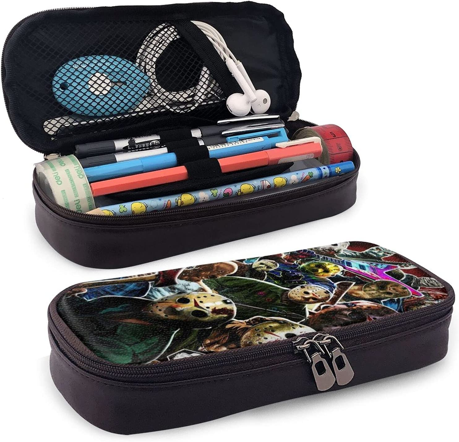 Jason Voorhees Pencil Philadelphia Mall Case Capacity Bi-g High quality Multi Pen