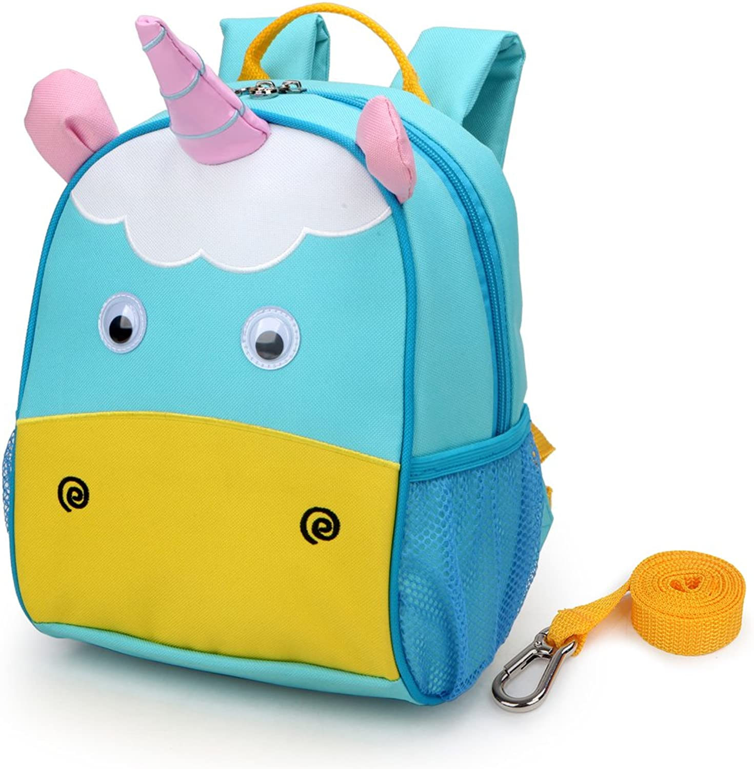 Yodo Upgraded Kids Insulated Toddler Backpack with Safety Harness Leash and Name Label - Playful Preschool Kids Lunch Bag, Unicorn