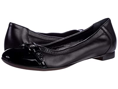 AGL Cap Toe Ballet Flat (Black) Women