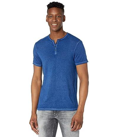 Buffalo David Bitton Kasum Short Sleeve Split Neck Henley (True Blue) Men