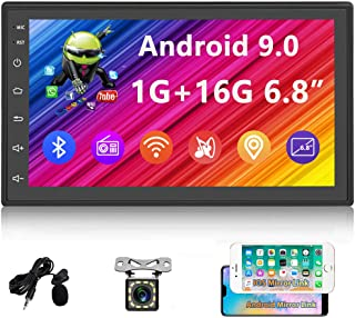 $99 » Sponsored Ad - UNITOPSCI Double Din Android Car Stereo 6.8 Inch HD Digital Touch Screen GPS Navigation Car Radio with Blue...