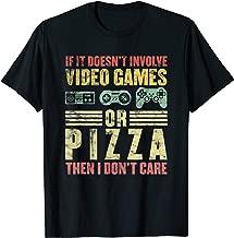 Funny Video Games Shirt Men Boys Women Gamer Gifts Pizza