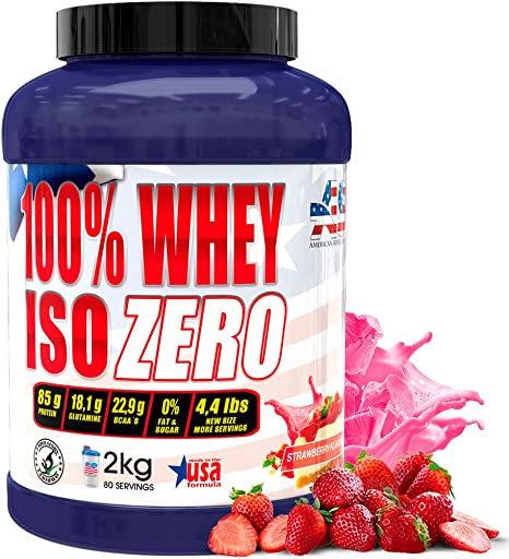 Iso Zero proteína American Suplement - 2kg - Fresa
