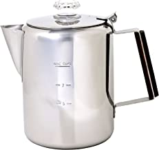 Chinook 41120 Timberline Stainless Steel Coffee Percolator Cookware, 9 Cup