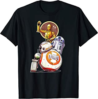 Star Wars Rise of Skywalker Droids Collage T-Shirt