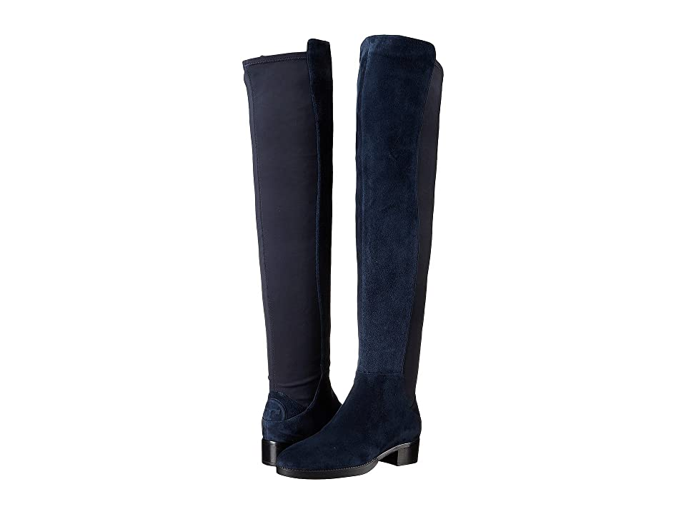 Tory Burch Caitlin Stretch Over-The-Knee Boot (Royal Navy) Women