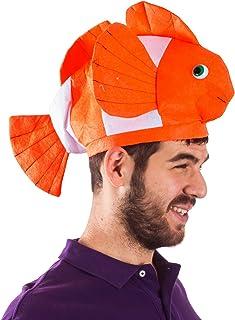Funny Party Hats Fish Hat - Clown Fish Hat - Ocean Animal Hats - Sea Animal Hats - Costume Hats