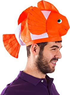 Funny Party Hats Fish Hat - Clown Fish Hat - Ocean Animal Hats - Sea Animal Hats - Costume Hats