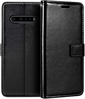 LG V60 ThinQ 5G Wallet Case, Premium PU Leather Magnetic Flip Case Cover with Card Holder and Kickstand for LG V60 ThinQ
