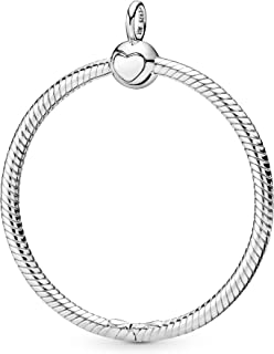 Pandora Womens Metal Fashion Necklace - 398330, Color Silver, Size 0.11 Inches