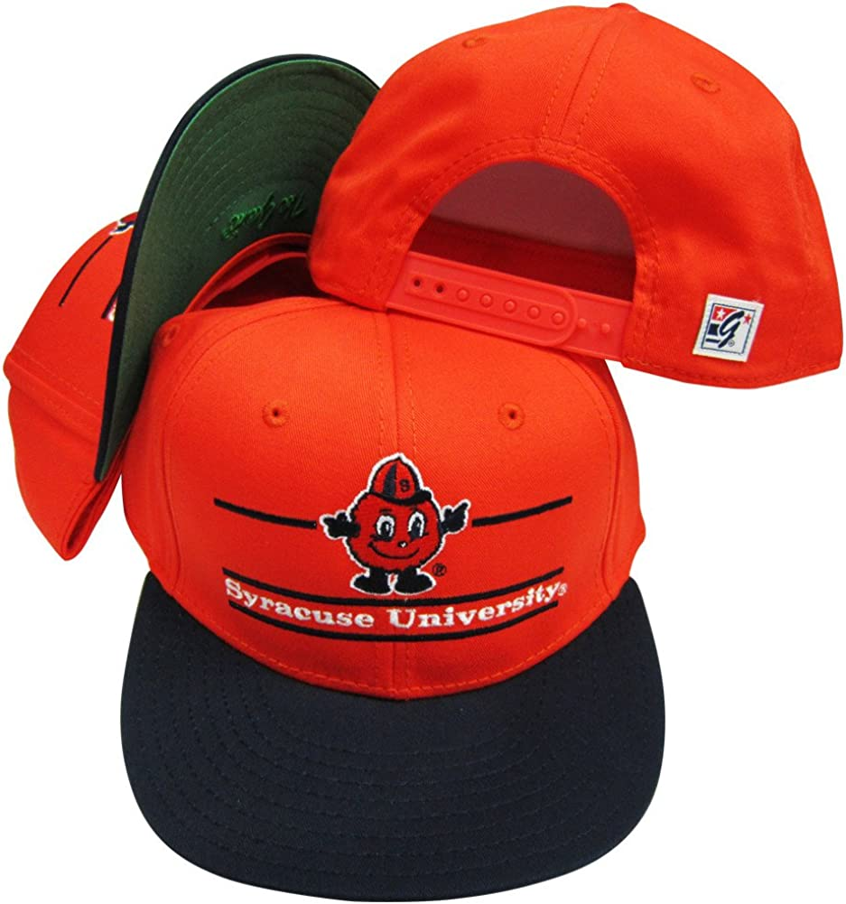 Syracuse OFFer safety Orangemen Classic Split Bar Snap Snapback Ba Adjustable