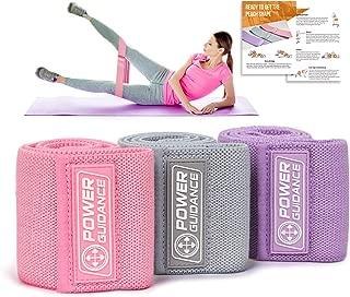 POWER GUIDANCE Bandas de Resistencia de Cadera,para gluteos, Ejercicio de piernas y Caderas Bandas Elásticas de Resistencia Set
