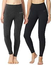 BALEAF Women's High Waisted Yoga Leggings Workout Capri Tummy Control Pants with Pocket